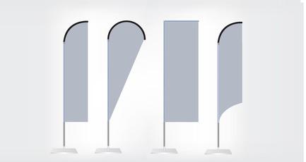 Fabrication et impression bâche banderole rollup kakemono drapeau BEACH FLAGS arkocom
