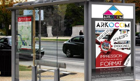 produits publicitaire impression grand formatARKOCOM-AFFICHAGE-URBAIN