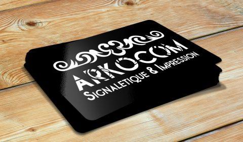 Produits publicitaire IMPRESSION-CARTE de visite-ARKOCOM